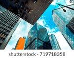 modern office building detail ... | Shutterstock . vector #719718358