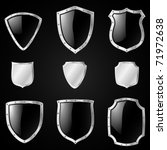 set of shields in 9 different... | Shutterstock .eps vector #71972638