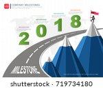 milestone timeline infographic  ... | Shutterstock .eps vector #719734180