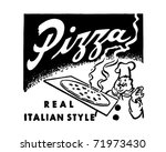 pizza   retro ad art banner | Shutterstock .eps vector #71973430