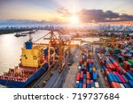 logistics and transportation of ... | Shutterstock . vector #719737684