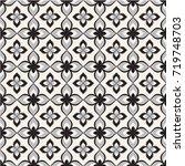 abstract pattern in arabian...   Shutterstock .eps vector #719748703