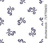 seamless pattern hand drawn... | Shutterstock .eps vector #719750653