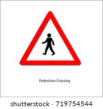 road sign pedestrian crossing
