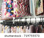 colorful fabrics samples... | Shutterstock . vector #719755573
