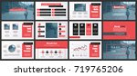 red and black business... | Shutterstock .eps vector #719765206