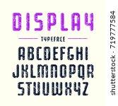 decorative sanserif font with... | Shutterstock .eps vector #719777584