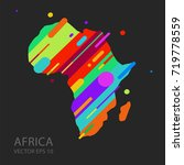 africa map silhouette vector... | Shutterstock .eps vector #719778559