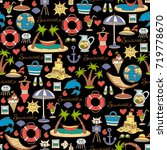 vector seamless pattern with... | Shutterstock .eps vector #719778670