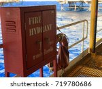 fire hydrant tool box standby... | Shutterstock . vector #719780686