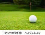 golf ball on the beautiful... | Shutterstock . vector #719782189