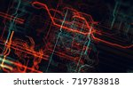 abstract technological... | Shutterstock . vector #719783818