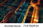 abstract technological... | Shutterstock . vector #719783914