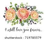 vector floral design card ... | Shutterstock .eps vector #719785579