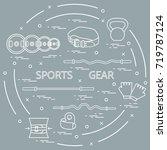 different goods for... | Shutterstock .eps vector #719787124