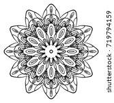 decorative round ornament. anti ... | Shutterstock .eps vector #719794159