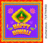 vector design of happy diwali... | Shutterstock .eps vector #719794900