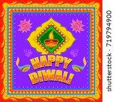 vector design of happy diwali... | Shutterstock .eps vector #719794900