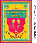 vector design of happy diwali... | Shutterstock .eps vector #719794969
