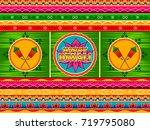 vector design of happy diwali...   Shutterstock .eps vector #719795080