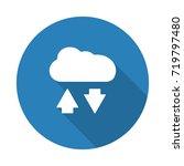 flat white cloud computing web... | Shutterstock . vector #719797480