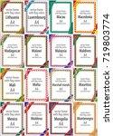 set of vector frames and... | Shutterstock .eps vector #719803774