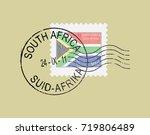 postal stamp symbols ''south...   Shutterstock .eps vector #719806489