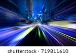 abstract motion blur city | Shutterstock . vector #719811610