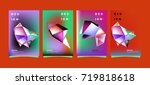 abstract colorful geometric... | Shutterstock .eps vector #719818618