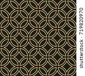 art deco seamless pattern... | Shutterstock .eps vector #719820970