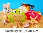 summer holidays equipment... | Shutterstock . vector #71982169