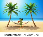 Green Frog In The Sun   3d...