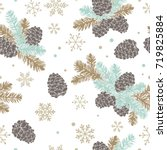 seamless pattern christmas tree ...