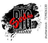 black friday sale background ... | Shutterstock .eps vector #719826130