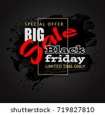 black friday sale background ... | Shutterstock .eps vector #719827810