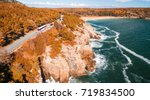 panoramic aerial view of acadia ... | Shutterstock . vector #719834500