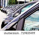 the fleet of passenger van... | Shutterstock . vector #719835499