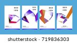 abstract colorful geometric...   Shutterstock .eps vector #719836303