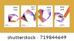 abstract colorful geometric...   Shutterstock .eps vector #719844649