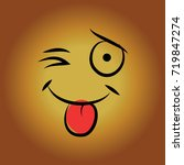 smiley face language expression ... | Shutterstock . vector #719847274