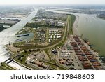 Aerial View Of Harbour In...