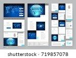 website template design with... | Shutterstock .eps vector #719857078
