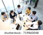 meeting image | Shutterstock . vector #719860048