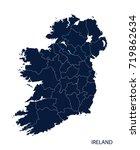 map of ireland. | Shutterstock .eps vector #719862634