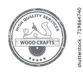 professional wood craft... | Shutterstock .eps vector #719864740