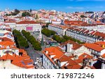 view of lisbon from the santa... | Shutterstock . vector #719872246