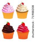 illustration set fruit cake... | Shutterstock .eps vector #71988208