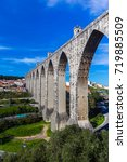 the aqueduct aguas livres in... | Shutterstock . vector #719885509