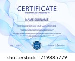 certificate with light... | Shutterstock .eps vector #719885779