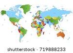 color world map | Shutterstock .eps vector #719888233